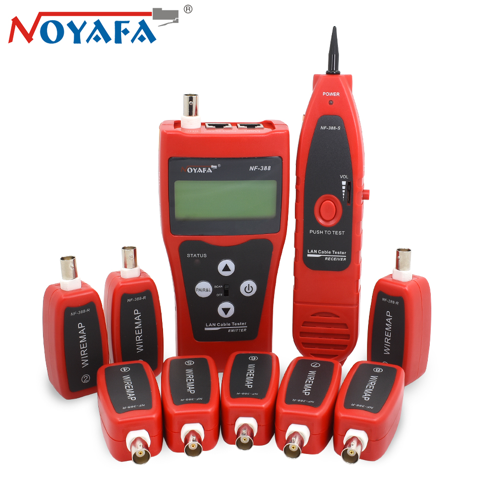 NOYAFA Outils de Sertissage RJ11 RJ45 À Sertir Outil câble NF-388 Câble Testeur Tectep Téléphone Fil Lan Testeur Tracker Réseaux
