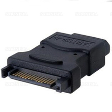 10pcs- 500pcs Sata To IDE Hard Disk Power Adapter Big 4Pin Female To 15Pin Male Connector Power Supply For Old Hard Disk