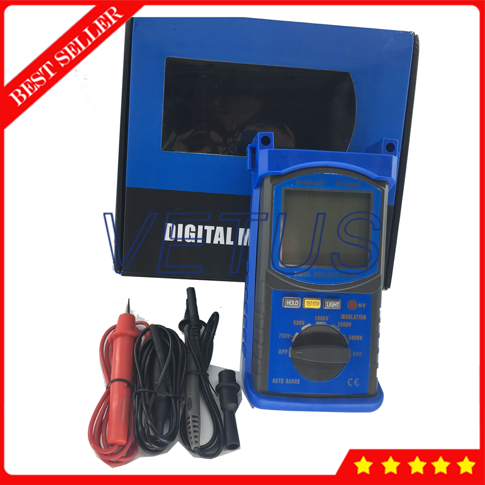 HP 6688B Portable Digital Insulation Resistance Tester With 5000V Insulation tester Electrical resistivity measuring instrument