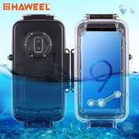 HAWEEL Diving Housing For Galaxy S9+ Case 40M/130FT Waterproof Photo UnderwaterCase For GalaxyS9 Plus Only Support Android 8.0.0