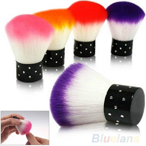 Novo Colorido ferramentas de Escova Do Prego Para O Acrílico & UV Unhas de Gel Art Poeira Cleaner Cor Aleatória