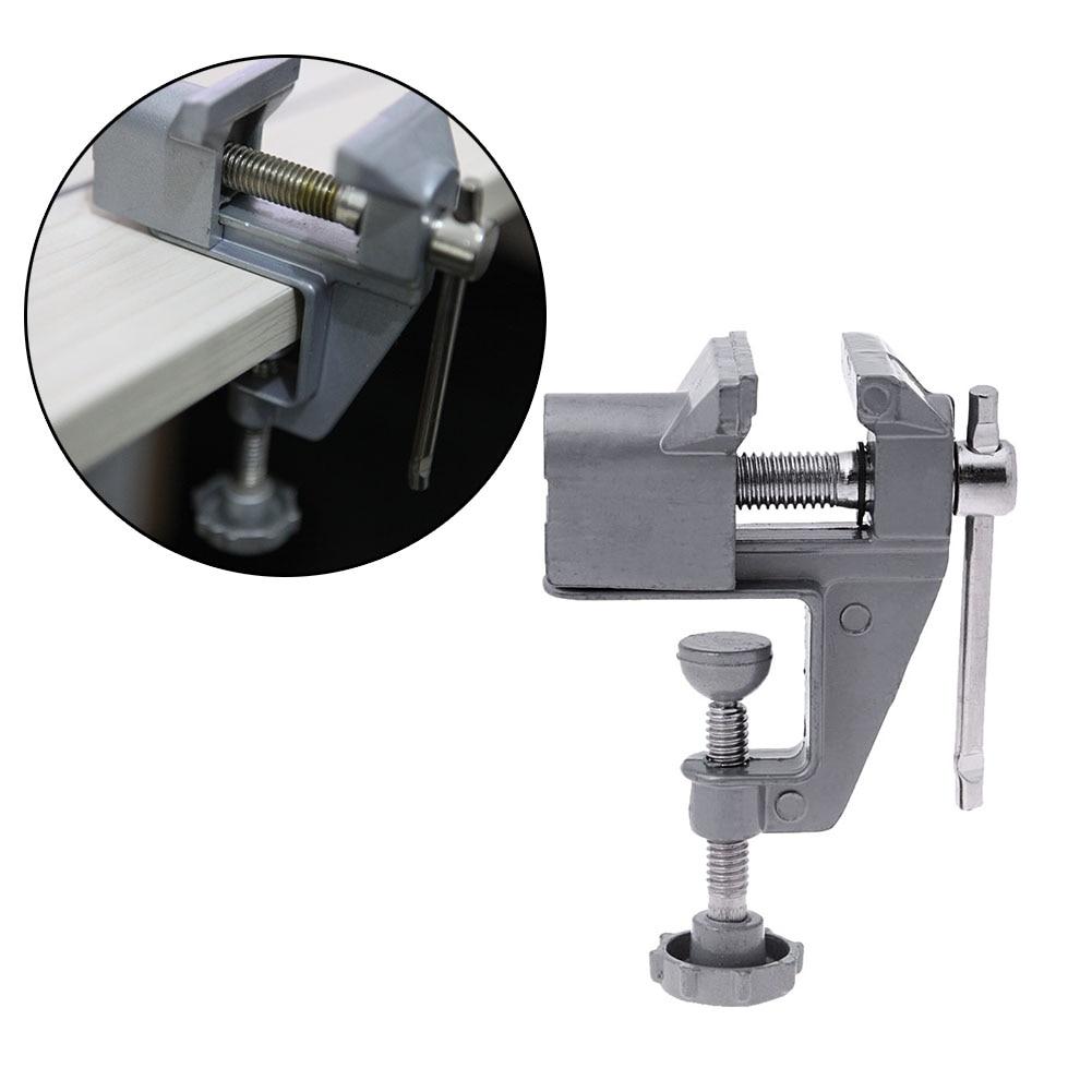 Morsa da banco universale Mini tavolo in lega di alluminio Morsa da banco Morsetto a vite Morsa per macchina artigianale fai da te Strumenti di riparazione fissi multifunzione