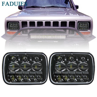 FADUIES 1 Pair 5X7 7X6 inch Rectangular Sealed Beam LED Headlight For Jeep Cherokee H6014 H6052 H6054 H6052 LED Headlight