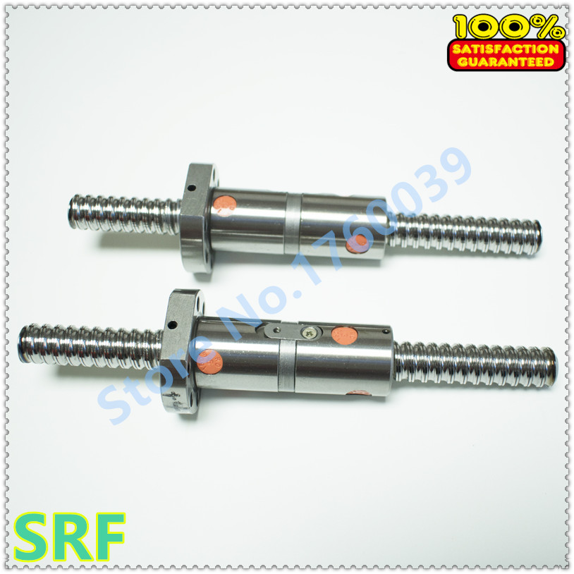 16mm Dia Ballscrew RM1605 set:1pcs 1605 Rolled ball screw L=800mm C7 +1pcs Double Ball nut without end machined hiwin 1616 ballscrew 600mm c7 dia 16mm pitch with end machined and ball nut for cnc kit parts high speed