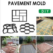 DIY Garden Pavement Mold  Manually Paving Cement Brick Molds Garden Stone Road Concrete Molds Pavement For Garden Home cement garden