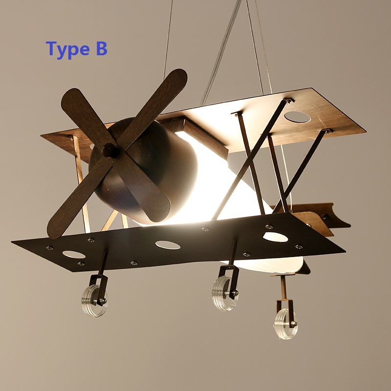 Vintage Iron Plane Kids Pendant Light Fixtures Children S