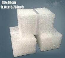 30*40cm (15,75 11,81 *) 50 Uds 10mm amortiguación bolsas de Burbuja envoltura protectora Bolsa Burbuja de embalaje de espuma de película de embalaje