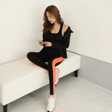 MADHERO Brand Women's Yoga Sets Three Pieces Bra Coat Pants Sportswear Leggings Fitness Sport Suit Running Tracksuit For Women
