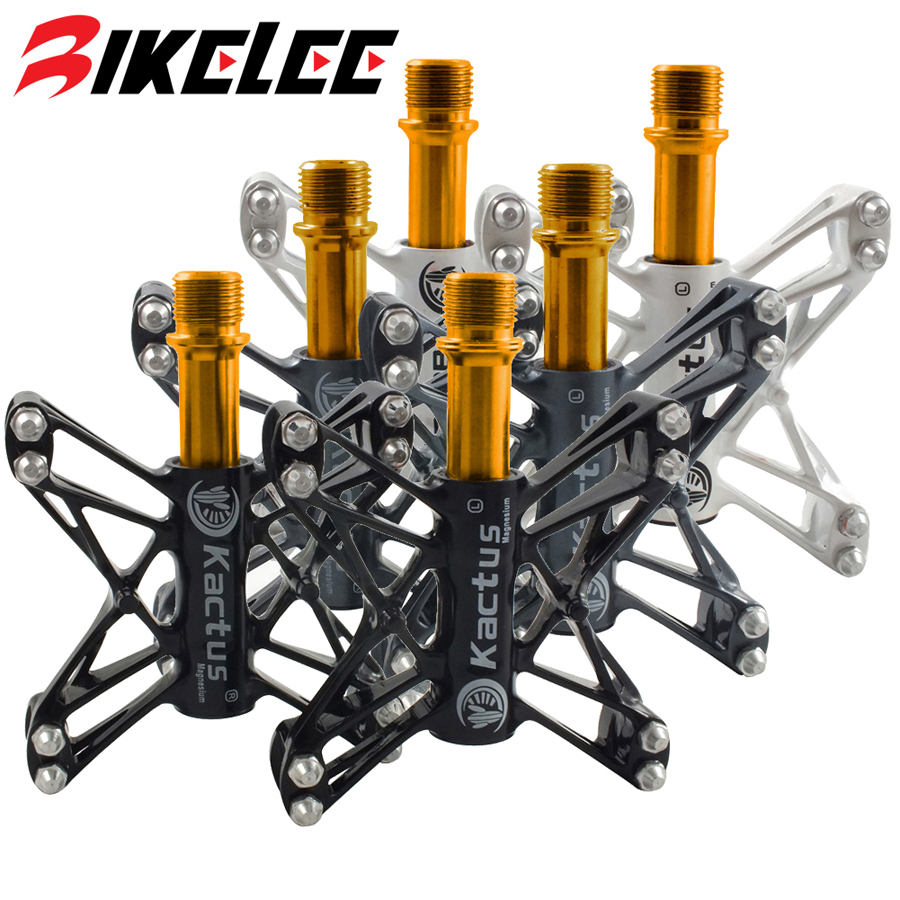 Kactus Ultralight 210g/pair Road Bike Pedals Stainless Steel Axle Pedales Bicicleta MTB Mountain Magnesium alloy Pedal Ciclismo swag off road bottle jack axle cradle