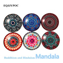 3PCS Mandala Refrigerator Magnetic Sticker Fashion Flower Glass Fridge Magnet Message Home Decoration Lovely Gifts for Mother