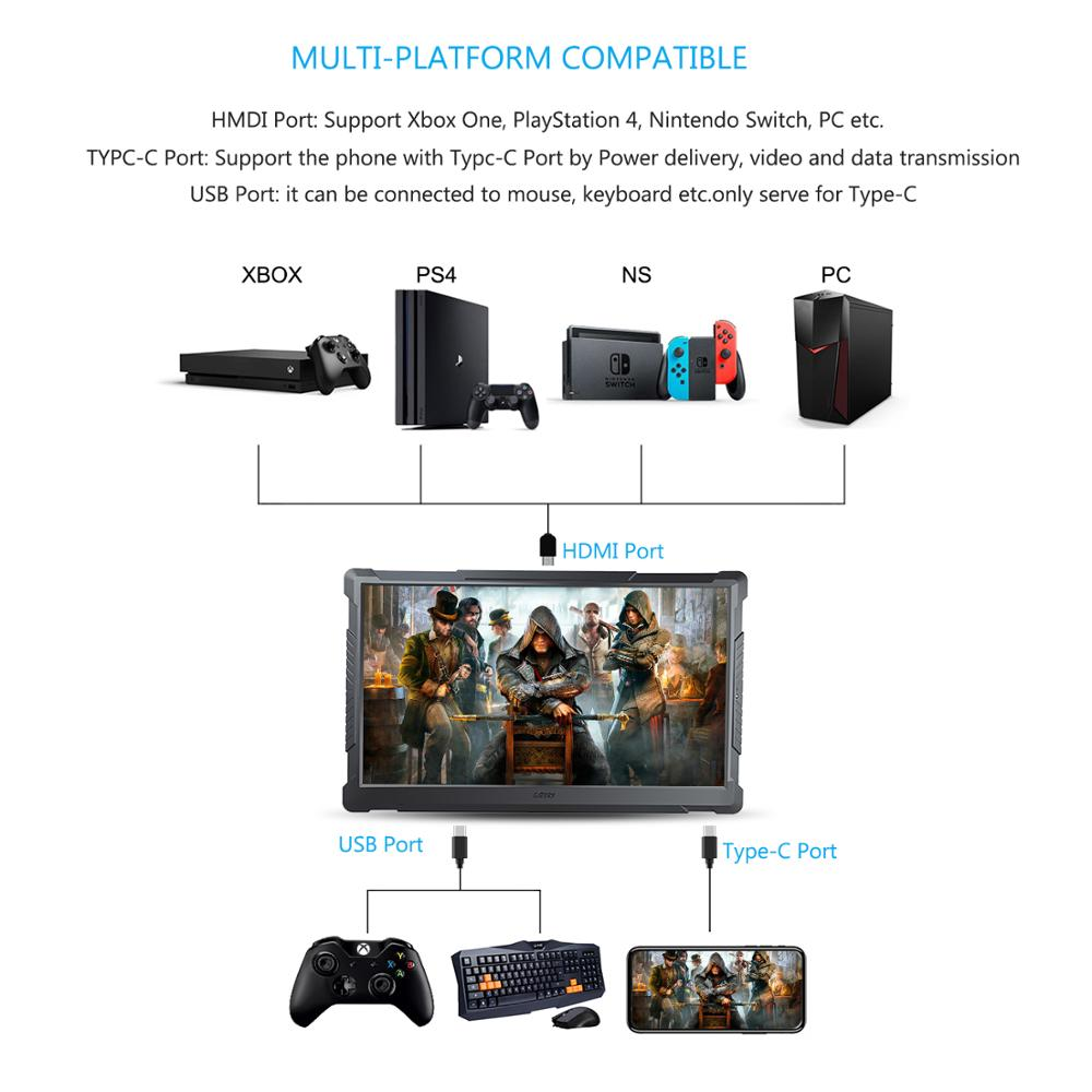 US $329 0 |G STORY 17 3 Inch HDR 120Hz 1ms QHD 1440P Eye Care Portable  Gaming Monitor, TN Panel, with FreeSync, Type C, HDMI Cable, Built i-in  Laptop