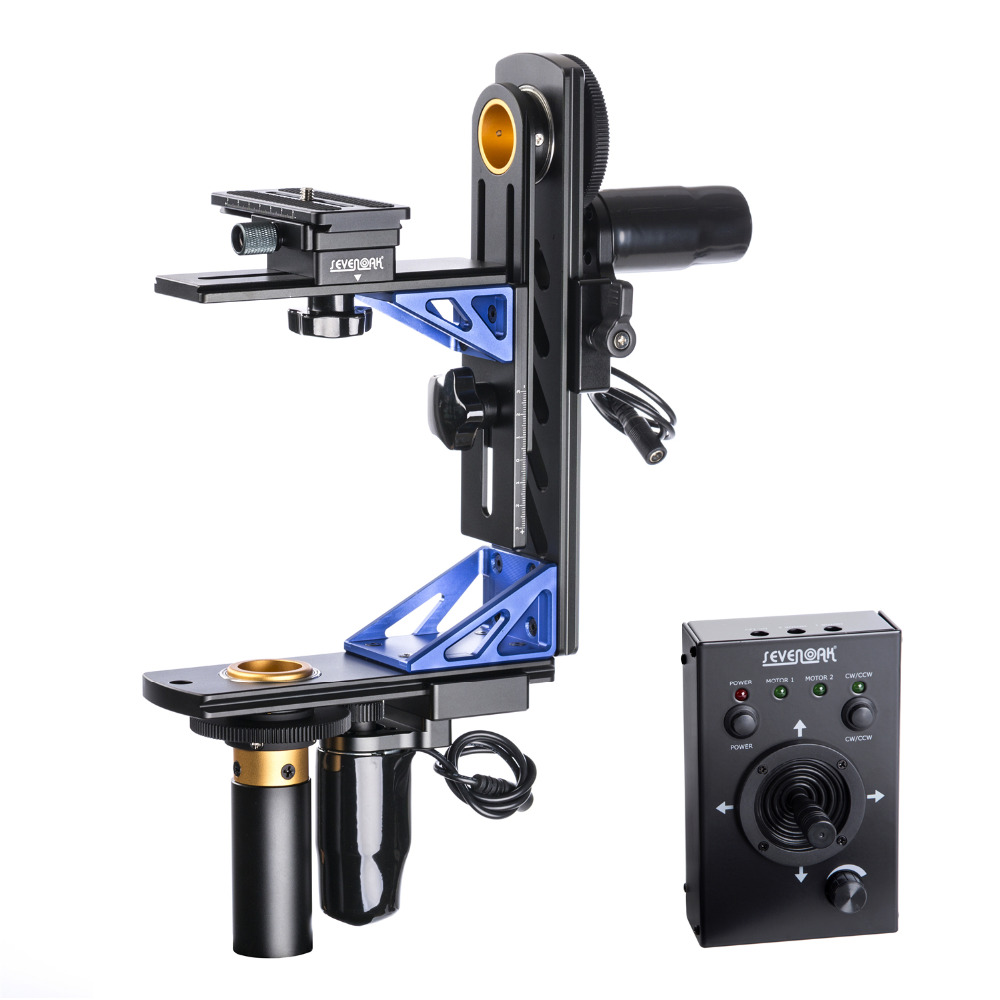 Sevenoak SK-ECH04 electrónico 360 Panning cabeza inclinada con cable de Control remoto para Canon Nikon Sony DSLR Cámara videocámara carga 10 kg