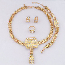 Free Shipping Gold Color African Costume Jewelry Sets  Women Party Jewelry set Fashion