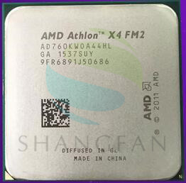 AMD Athlon  X4 760 X4 760K X4-760K AD760KWOA44HL Quad-Core  3.8GHz 4MB 100W Quad-Core CPU Processor Socket FM2
