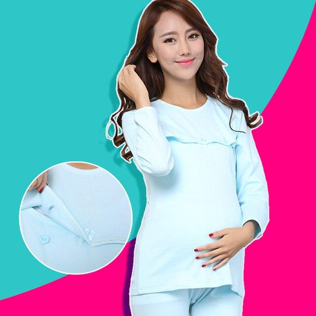 Spring And Autumn Pregnant Women Pajamas Home Nursing Wear Plus