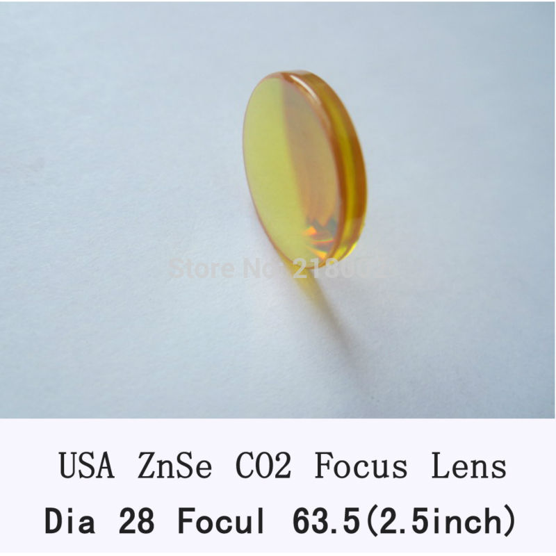 RAY OPTICS-USA Znse co2 laser lens 28mm dia 63.5mm focal for co2 laser of laser engrave and cutting machine usa imported znse material 28mm diameter co2 laser lens focal length 50 8mm 63 5mm for co2 laser cutting engraving machine