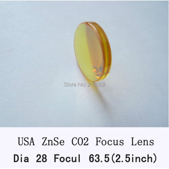 RAY OPTICS-USA Znse co2 laser lens 28mm dia 63.5mm focal for co2 laser of laser engrave and cutting machine