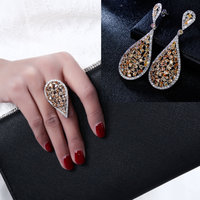 Stunning Earrings And Ring Set Buy 2 Get Cheaper Price Excellent Quality Elegant Design Show Off