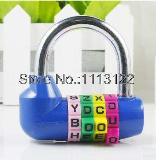 placeholder 4 digital english letter combination lock u type anti theft code lock english letter lock