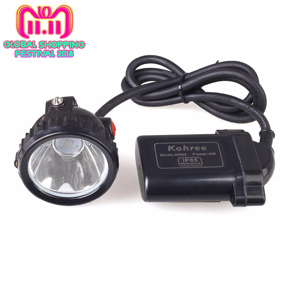 Kohree KL6LM 5W 3.7V Led Mining Head Light Chargeable Car Charger Headlamp Safety Lighting for Night Fishing Camping Coal Miner цена