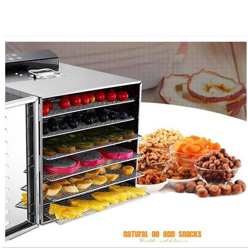 все цены на 220V 6 Layers Electric Stainless Steel Fruit Meat Vegetable Herb Dryer Food Dehydrator Machine Energy Saving онлайн