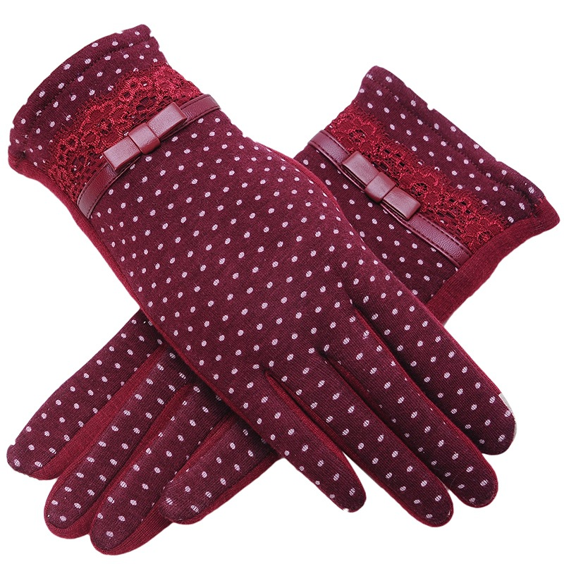 New Mittens For Women Gloves Trendy Winter Lace Ladies