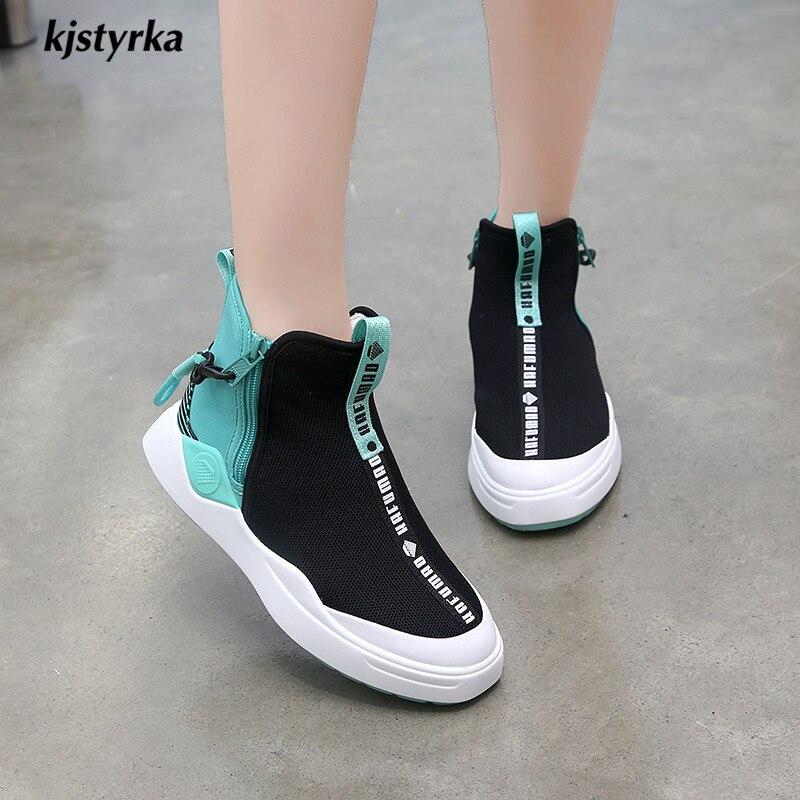 Automne High Sneakers Design Kjstyrka Noir Top Espadrilles Dames Mode Brand 2018 Mixte Tenis Printemps Feminino Femmes vert Casual Couleurs q660Ip