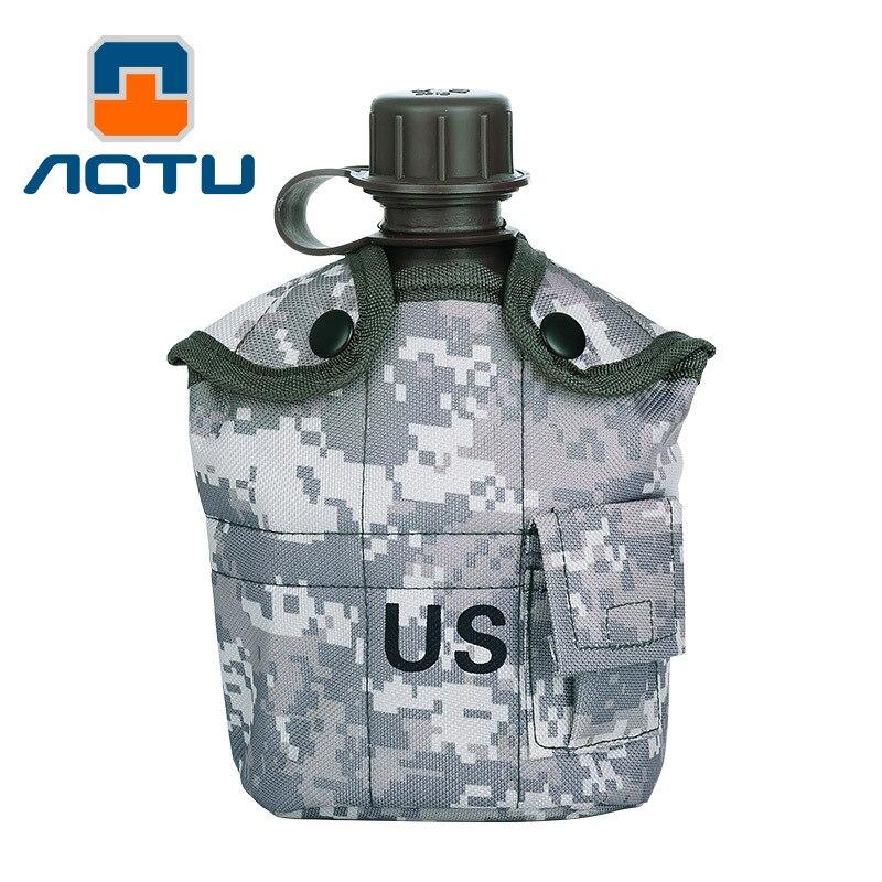 Pesada Tapa 1L Cocina Copa EE.UU. Ejército de Aluminio Botella De Agua Hervidor