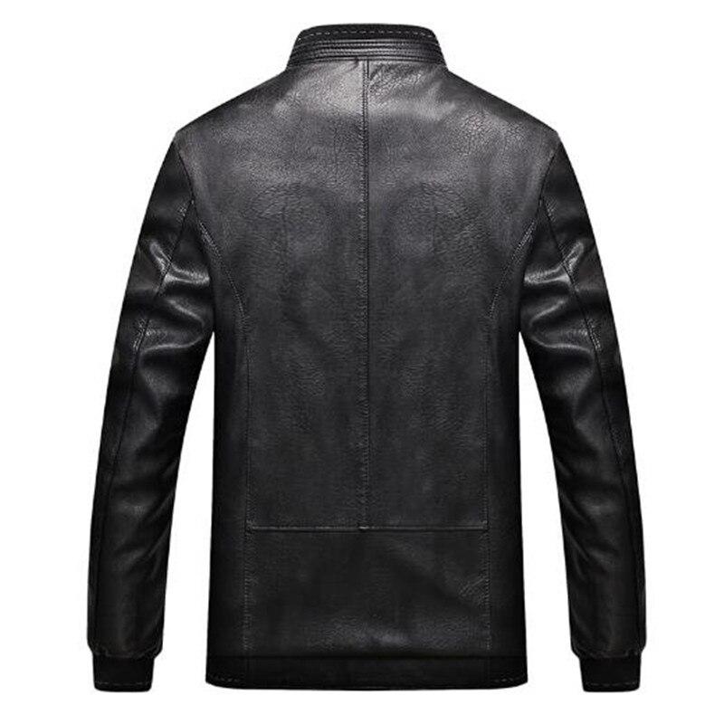 Automne Veste Qualité Black Mince Cuir 2018 Mode Marque Pu Et En Col khaki De Manteau Printemps Haute 6xl7xl8xl Hommes jVpULGqSzM