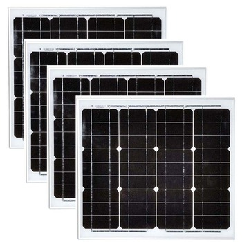 Panel Solar 30w 12v 4Pcs Zonnepaneel Voor Thuis 120w 48v Solar Battery Charger Solar Home System Camping Led Light 12v LM