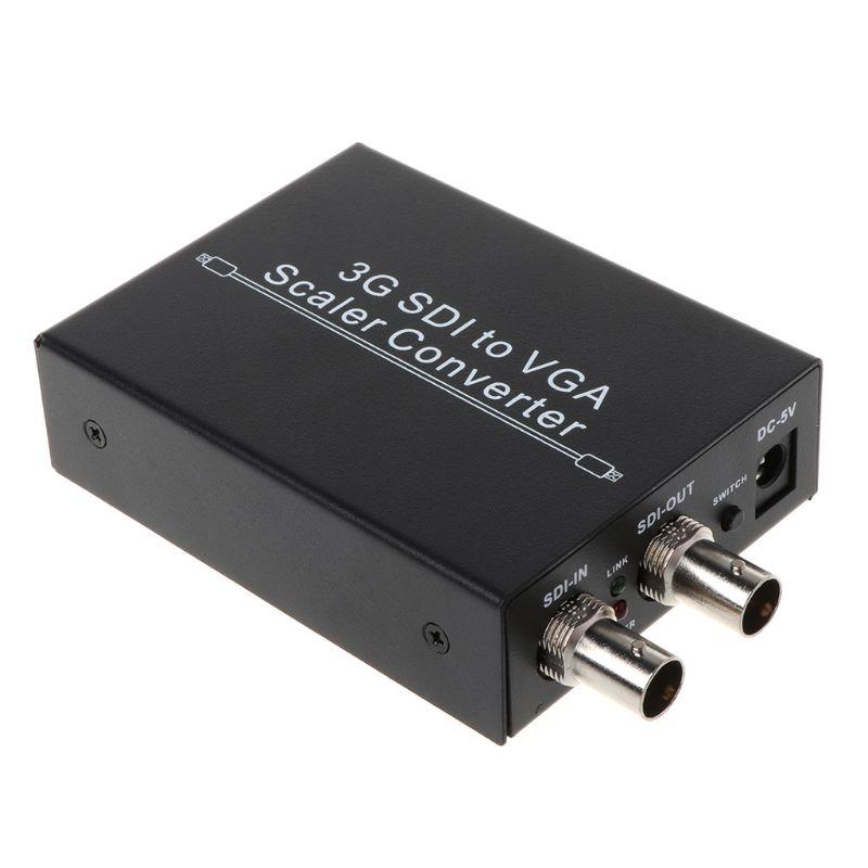 NK F002 SDI To VGA Video Converter Adapter SD SDI HD SD 3G SDI BNC Video Switcher Devices