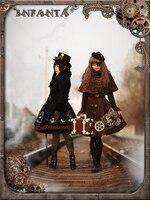 Элегантный Готическая Лолита steam punk платье в стиле «Лолита» вышитые tiebelt обратное время АО 2 цвета