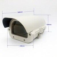 6 인치 CCTV 카메라 상자 투명 유리 Witnout 렌즈 컷 아웃 빛 알루미늄 합금 커버 kamera 주택 Size240 * 135*100 미리메터