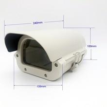 6inch CCTV camera Box Clear Glass Witnout lens cutout LED Light Aluminium Alloy Cover kamera Housing Size240*135*100mm