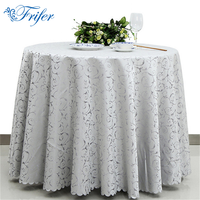 White Oliproof Table Cloth For Weddings Machine Washable Tablecloths  Restaurant Overlay Table Cloths 180cm 220cm 280cm