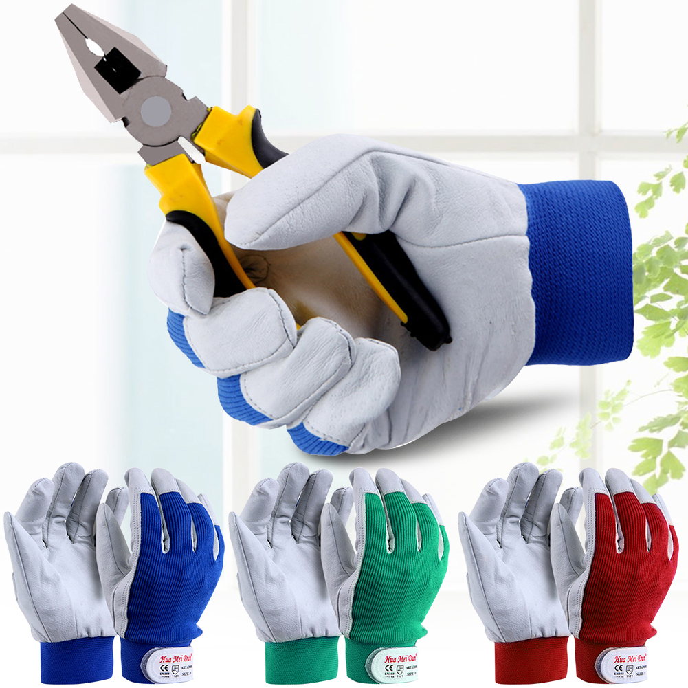 Thorn Proof Gardening Protective Work Gloves Finger Multi-Purpose Outdoor Construction Durable Non Slip Labor Artificial Pigskin