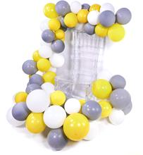 METABLE 100 pcs 10 inch Matte Balloons Pack of ballon Gray White Yellow Balloons, Party for Wedding Decor