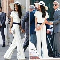XVA Streewear Loose Wide Legged Mop Floor Pants Womens White High Waist Pearl Chiffon Fashion Trousers Or White Tops 2018