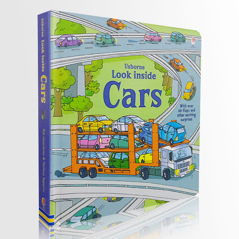 Britain English 3D Usborne Look Inside Cars Picture Book Education For Children Kids Flaps Lift Book Reading Brithday Gift