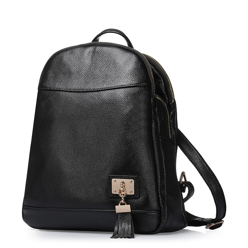 ФОТО Vintage casual new style backpack genuine leather school bags women simple design brand shoulder bags