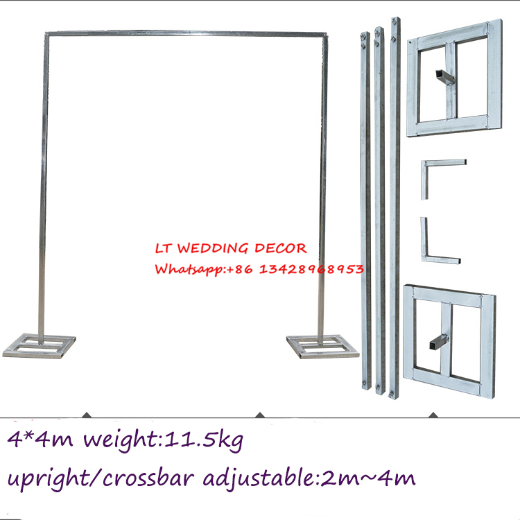 4m*4m wedding zincplated metal wedding backdrop stand/drap stand/piping frame