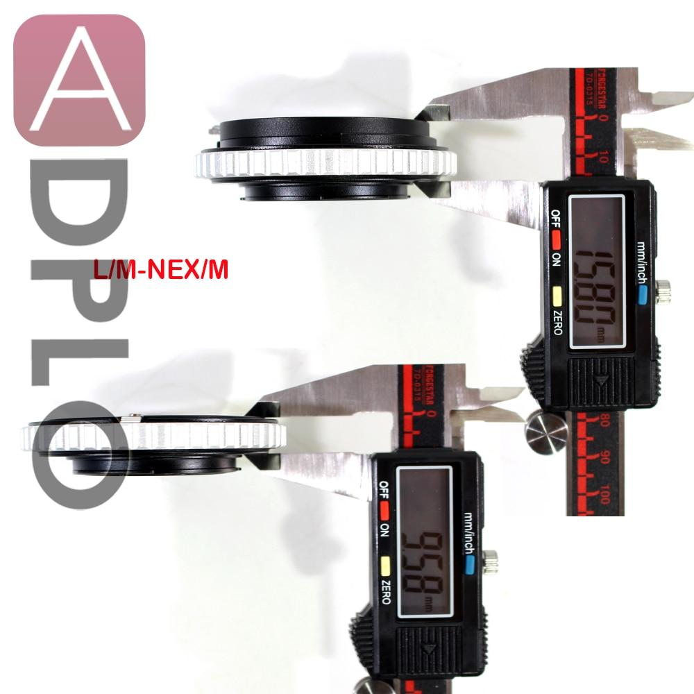 Pixco Suit For Leica M Lens to Sony E Mount NEX Camera Adjustable Macro to Infinity