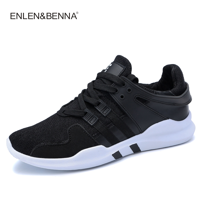 Enlenbenna 2017 Men Lacing System Running Shoe Run Lightweight Sport Shoes Breathable Outdoor Fly Weave Sneakers Gym Footwear