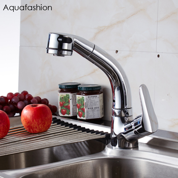 Pull Out Kitchen Tap 360 Swivel Spout Kitchen Mixer Single Lever Kitchen Tap with Lift Up and Down Function