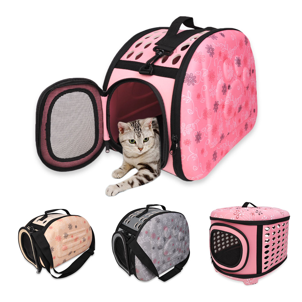 Foldable Dog Carrier Handbag Cat Travel Bag EVA Breathable Shoulder Bags For Small Dogs Puppy Carrying Outdoor Pet Supplies