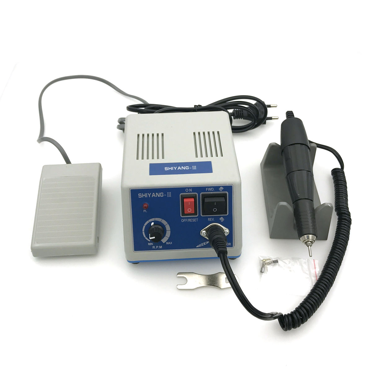 Dental Lab SHIYANG Micromotor Machine N3 + 35K RPM Polishing Handpiece 110V dental lab marathon handpiece 35k rpm electric micromotor polishing drill burs