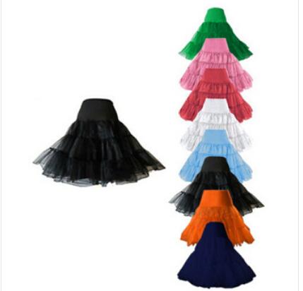 "Frete grátis 26 "" 50 S Underskirt balanço Retro Vintage Petticoat fantasia Net Skirt Rockabilly Tutu muitas cores S / ml / XL 2XL 4XL 6XL"