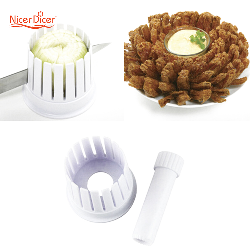 1 Set Kitchen Onion Blossom Microwave Oil Fry Maker Slicer Cutter Cutting