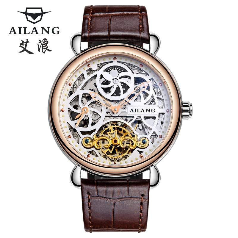 Deluxe automático reloj mecánico dial doble zona horaria función - Relojes para hombres - foto 1