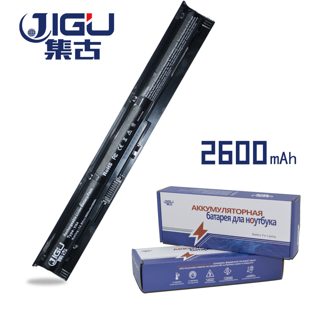 JIGU 2600mah VI04 Laptop Battery TPN-Q140 TPN-Q141 756478-421 HSTNN-DB6K LB6K For HP Pavilion 17 15 For ENVY 15-K028TX K031TX 15 2v 58wh rr04 notebook battery for hp omen 15 15 5014tx tpn w111 778951 421 4icp6 60 80 hstnn lb6n
